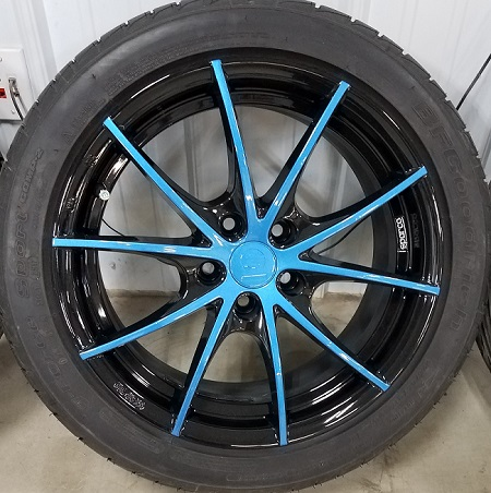 custom painted wheel