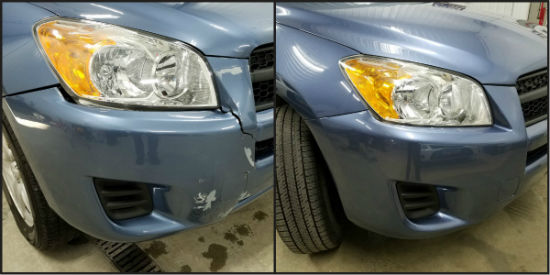 bumper repair before and after